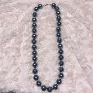 Beautiful Blue-ish Grey Pearl Necklace!